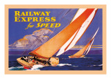 Railway Express for Speed Decalque em parede por Josef Fenneker