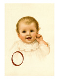 Baby Face O Wall Decal by Ida Waugh