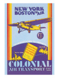 Colonial Air Transport, New York to Boston by Air Wall Decal