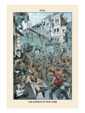 Puck Magazine: The Streets of New York Wall Decal by Eugene Zimmerman