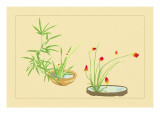 Bamboo, Narcissus, and Lily Wall Decal by Sofu Teshigahara