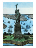 Statue of Liberty Wall Decal by Currier & Ives
