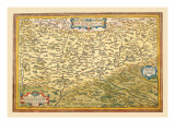 Map of Transylvania Wall Decal by Abraham Ortelius