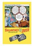 Ballantine&#39;s Beer, Moving in the Best Circles Wall Decal