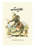 Judge: The Elephant's Jubilation Wall Decal by Grant Hamilton