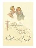 There Was a Little Boy and a Little Girl Wall Decal by Maud Humphrey