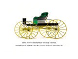 Road Wagon Suspended on Side Springs Wall Decal