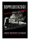 Doppeldeckzuge: Hamburg, Lubek, Travemunde Wall Decal