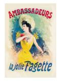 Ambassadeurs: La Jolie Fagette Wall Decal by Jules Chéret