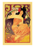 Job Wall Decal by Alphonse Mucha
