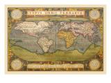 Abraham Ortelius - Dünya Haritası - Duvar Çıkartması