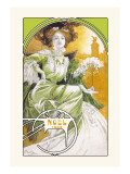 Noel 1903 Wall Decal by Alphonse Mucha