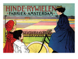 Hinde-Rywielen Factory in Amsterdam Autocollant mural par Johan Georg Van Caspel