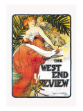 The West End Review Wall Decal by Alphonse Mucha
