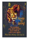 Ready to Spring! Wall Decal by Willard Frederic Elmes