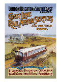 Coast Line Rail Motor Services All the Year Round Wall Decal