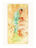 Winter Wall Decal by Alphonse Mucha