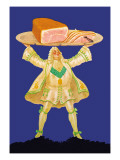 Ham Platter Wall Decal by Paul Mohr