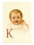 Baby Face K Wall Decal by Ida Waugh