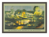 The Splendid Naval Triumph on the Mississippi Wall Decal
