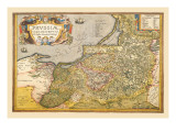 Map of Prussia Wall Decal by Abraham Ortelius