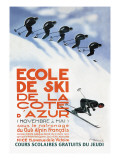 Ecole de Ski Wall Decal by Simon Garnier
