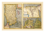 Maps of Turkey, Egypt, and Libya Wall Decal by Abraham Ortelius