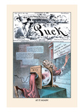 Puck Magazine: at It Again! Wall Decal by Eugene Zimmerman