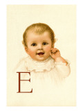 Baby Face E Wall Decal by Ida Waugh
