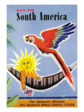 Fly to South America Wall Decal by Jean Dubois