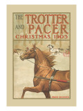 The Trotter and Pacer, Christmas 1905 Wall Decal