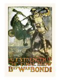 Put Strength in the Final Blow Wall Decal by Frank Brangwyn