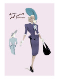Classy Suit Dress with Hat and Bag Wall Decal