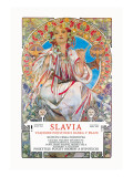 Slavia Insurance Company Wall Decal by Alphonse Mucha