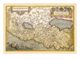 Map of Northern Italy Wall Decal by Abraham Ortelius