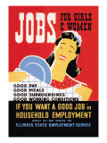 Jobs for Girls and Women Wall Decal by Albert Bender