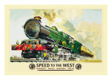 Speed to the West Wall Decal