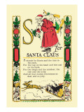 S for Santa Claus Wall Decal by Tony Sarge