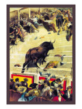 La Lidia el Toro Monudo Wall Decal by Clyde Forsythe