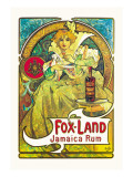 Fox-Land Jamaica Rum Wall Decal by Alphonse Mucha