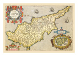 Map of the Island of Cyprus Wall Decal by Abraham Ortelius