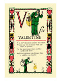 V for Valentine Wall Decal by Tony Sarge