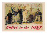 All Together! Enlist in the Navy Wall Decal by Reuterdahl