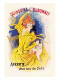 Quinquina Dubonnet Apertif Wall Decal by Jules Chéret