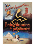 Berlin to Alexandria in 100 Hours on the Hamburg-Amerika Cruise Line Wall Decal