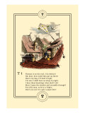 Little Lily's Alphabet: Thomas is on the Roof Wall Decal by Oscar Pletsch