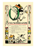O for Old Mother Goose Wall Decal by Tony Sarge