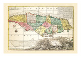 Nova Designatio Insulae Jamaicae Wall Decal by Georg Matthaus Seutter
