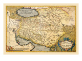 Map of the Middle East Wall Decal by Abraham Ortelius