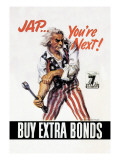 You're Next! Buy Extra Bonds! Wall Decal by James Montgomery Flagg